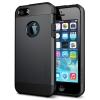 Пластиковый чехол Броня для iPhone 5 и 5S черный
